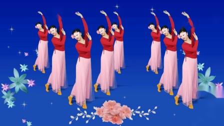 带点古风韵味的轻柔广场舞《落了白》简单轻松的形体练习舞