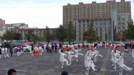 轮南县纪念2021年重阳节陈氏太极扇[德健站】