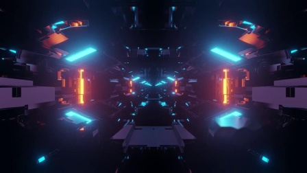 b115 蓝色科技三维空间隧道穿梭爵士舞街舞灯光秀T台走秀唱歌舞蹈秀酒吧巨燃动感闪亮模特秀幼儿园小学大学元旦晚会大屏幕舞台背景视频素材