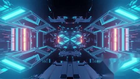 b114 蓝色科幻空间动感炫酷灯光秀街舞爵士舞唱歌跳舞学校晚会元旦新年春节联欢晚会节目大屏幕舞台led背景视频素材