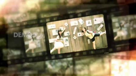ae片头 pr模板 616震撼史诗复古胶片老电影同学会开场视频片头ae模板 视频制作