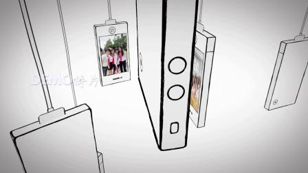 ae片头 pr模板 630创意悬挂卡通手机屏幕照片展示同学会开场视频片头ae模板 视频制作