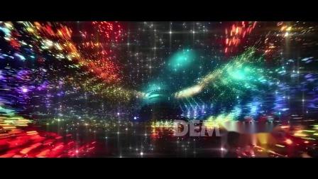 b127 魔幻唯美绚丽七彩粒子闪烁星星闪闪发光星空夜空炫酷年会晚会庆典互联网峰会唱歌歌舞表演歌曲配乐服装走秀大屏幕舞台背景LED视频素材