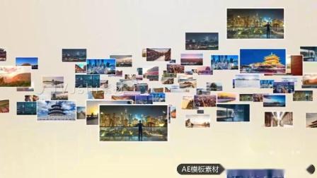 V271 AE模版大气金色党政照片汇聚LOGO 开场主 视频制作