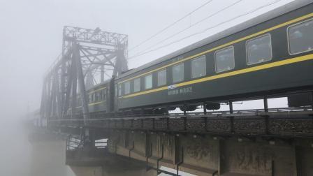 T179次 HXD1D0418 通过京广线K1562KM长沙浏阳河铁路大桥