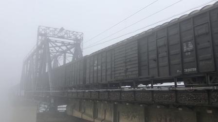货列 25005次 HXD1B0344 通过京广线K1562KM长沙浏阳河铁路大桥
