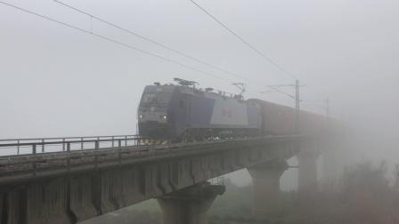 货列 41098次 HXD1B0422 通过京广线K1562KM长沙浏阳河铁路大桥