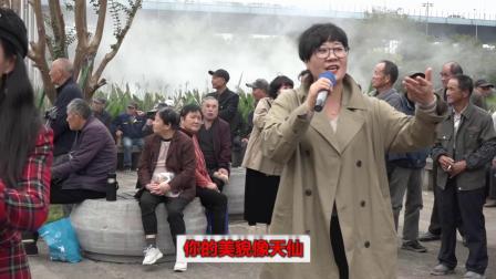 杭州越剧戏迷演唱越剧【山河恋--送信】选段