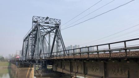 Z285次 HXD3D0498 通过京广线K1562KM长沙浏阳河铁路大桥