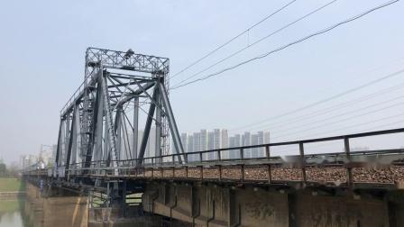 Z207次 DF11G0030-0029 通过京广线K1562KM长沙浏阳河铁路大桥