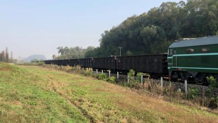 货列 86670次 DF4B3117 通过广茂线K42KM处莲塘村旁