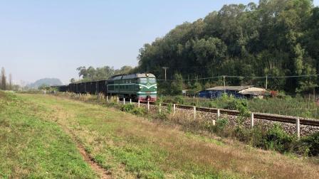 货列 86672次 DF4B7635 通过广茂线K42KM莲塘村旁