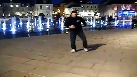 鬼步舞   高清无加速    面具男脱了面具跳的