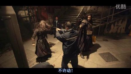 一群香港警察与歹徒搏斗被