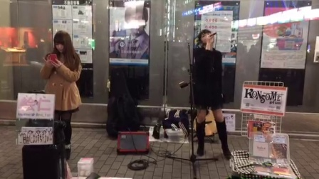 [直播回放]日本街头美女现场唱歌