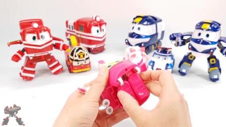 机器火车侠 和 变形警车珀利汽车变形金刚机器人玩具 韩国人气玩具 小火车变形 § 垣垣玩具 §