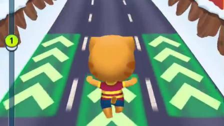 汤姆猫玩跑酷 竞速赛跑 手机游戏