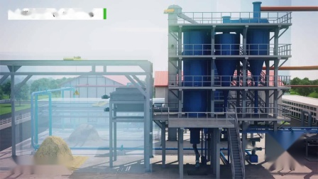 生物质气化发电工艺流程三维仿真演示动画