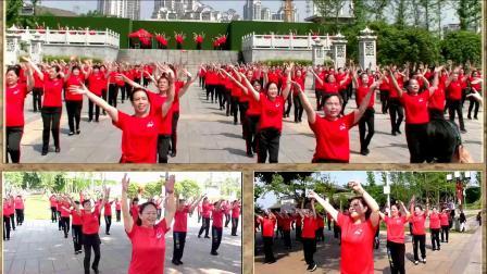 大型排舞万人同跳《舞动中国》《舞出中国梦》湘潭市广场舞协会礼献祖国70华诞活动
