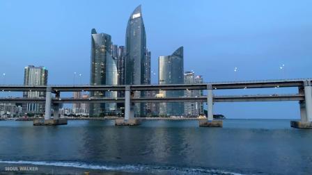 E画良品‖ 漫步夜晚的釜山 广安里大桥海滩 2020.5