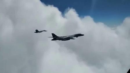 俄南部军区Su-27P和Su-30SM战机于黑海波罗的海伴飞美空军B-1B轰炸机