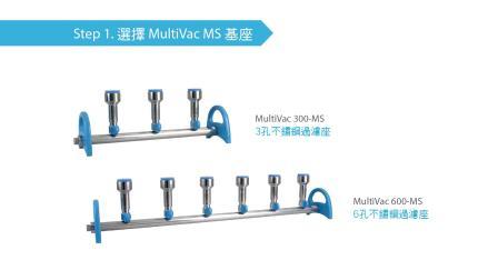 MultiVac 旋卡式不锈钢多孔过滤座