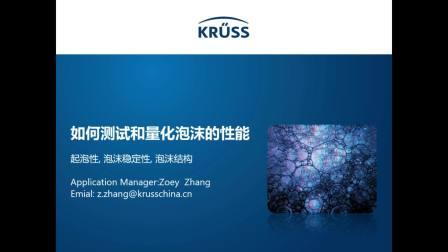 KRUSS研讨会-泡沫的基本原理及其应用及如何测试量化