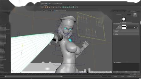 奥特曼女主3D制作工程图