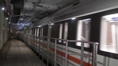 【广州地铁22号线】广州地铁22号线D2型电客车(22x013-014)番禺广场站上行进站