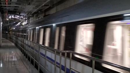 【广州地铁18号线】广州地铁18号线D1型电客车(18x015-016)冼村站下行出站