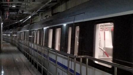 【广州地铁18号线】广州地铁18号线D1型电客车(18x019-020)冼村站上行站前折返进站