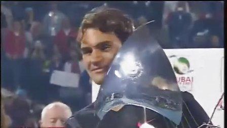 ATP2012迪拜 费德勒击败穆雷第5次捧杯颁奖典礼