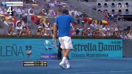 费德勒最佳得分集锦!2012年马德里大师赛 Federer Best Points Madrid