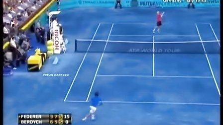 2012年马德里大师赛 费德勒VS伯蒂奇HL决赛 Federer-Berdych Final