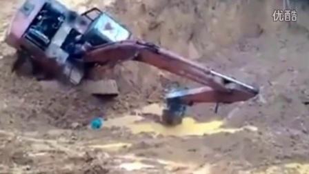 超可怕的挖掘机事故汇集