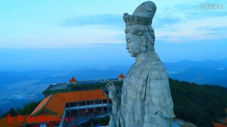 无人机航拍广东东莞观音山观音圣像