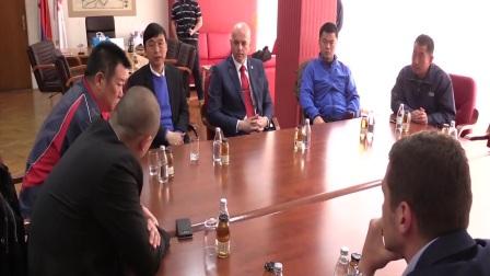 Reception with Mayor of city Pancevo