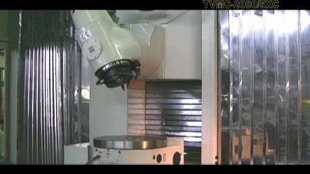 台湾新卫动柱式五轴联动立卧加工中心TVMC-2000-5AX