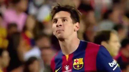 梅西最令人震撼的一粒神球,踢得守门员根本反应不过来!太精彩了!