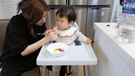 [Ssomday Vlog 24]在家做紫菜包饭和小侄子玩骑膊马