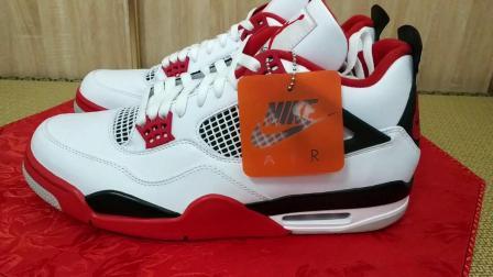 龙哥号外 146 Air Jordan 4 白红