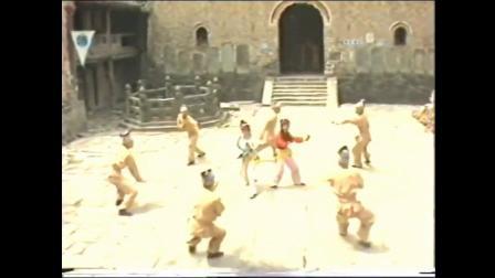 2个花布鞋正义功夫女侠被一群坏人包围 寡不敌众