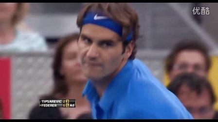 2012年马德里大师赛SF费德勒VS蒂普萨雷维奇HL半决赛 Federer-Tipsarevic