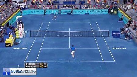 2012年马德里大师赛 费德勒VS加斯奎特HL第三轮 Federer-Gasquet 3R