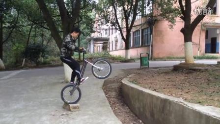 邵阳学院  攀爬自行车 李锦涛 2015年11-12月练车视频