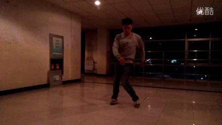 科师poppin练习solo街舞