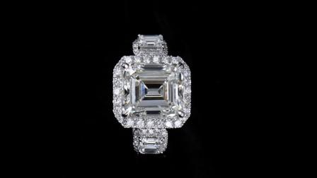 #JCRW05387922# 3.94克拉白钻戒指