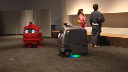 ZMP Delivery Robot CarriRo Delivery demo