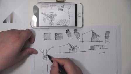 罗丹美术手绘—暗部明暗线条排练讲解