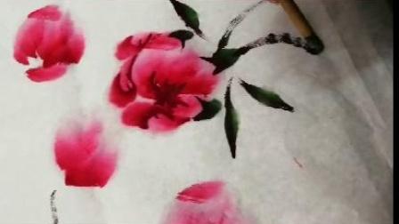 李克威國畫牡丹畫法(2)
